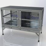 Gaiola Pet Pequena 2 Portas com Base Fixa (2)