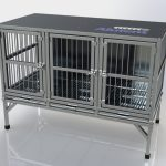 Gaiola Pet Pequena 3 Portas com Base Fixa