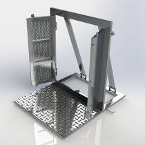 Barricada com Portão 1000 x 1250 x 1200